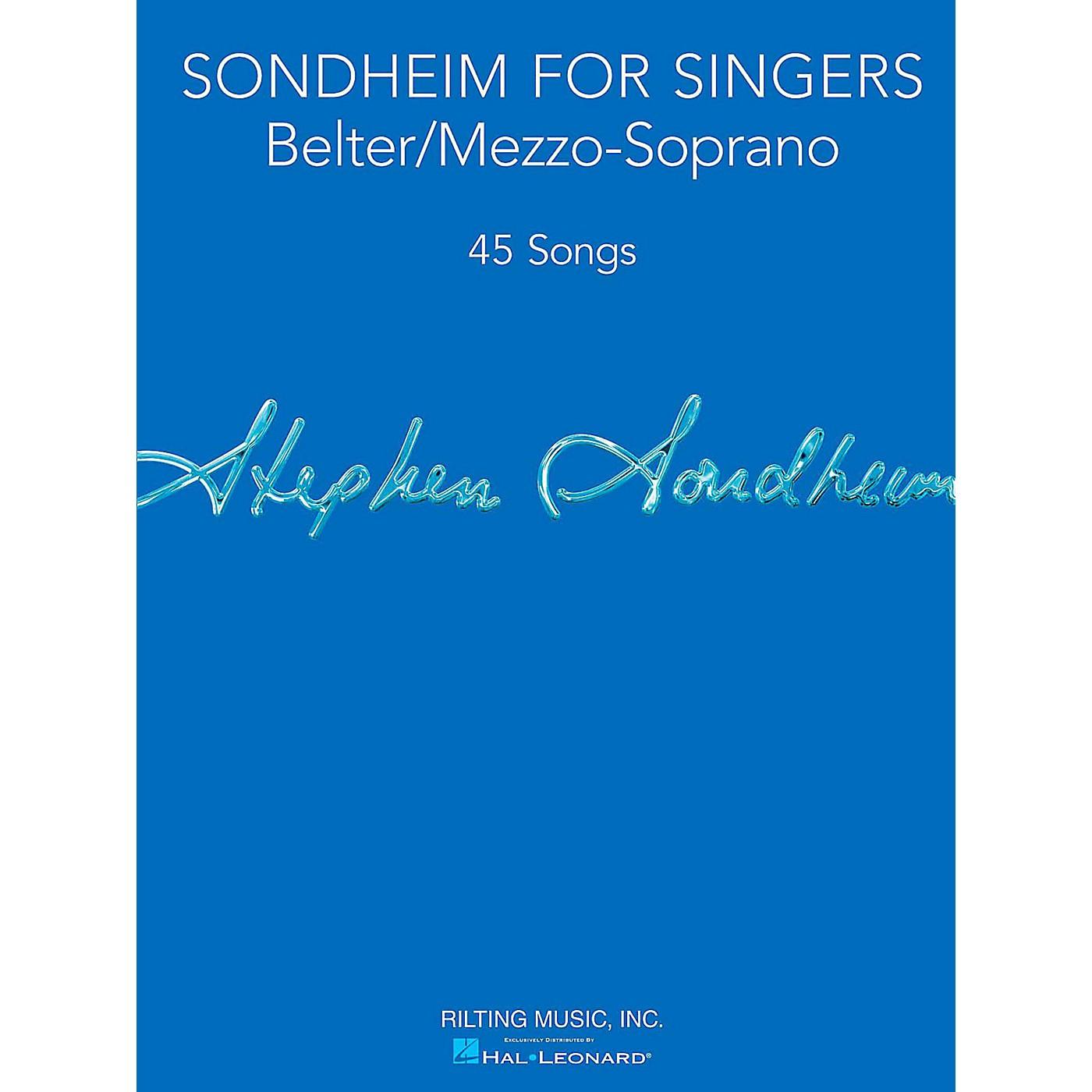 Hal Leonard Sondheim For Singers - Belter/Mezzo-Soprano thumbnail