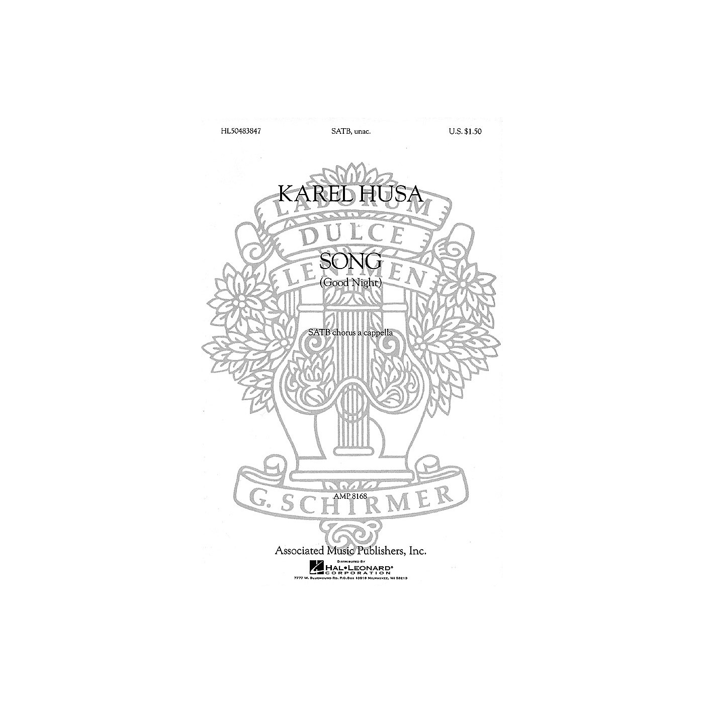Associated Song (Good Night) (SATB (divisi) a cappella) SATB DV A Cappella composed by Karel Husa thumbnail
