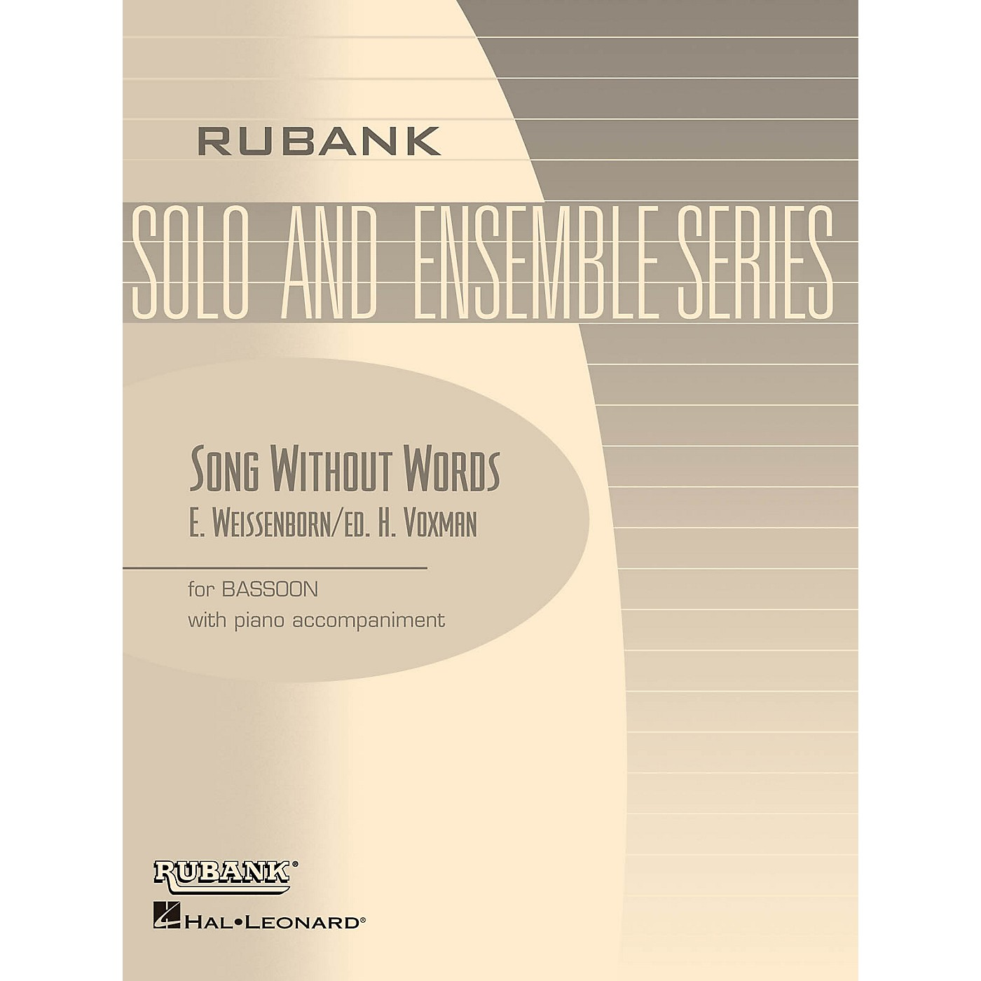 Rubank Publications Song Without Words, Op 226 (Bassoon Solo with Piano - Grade 2.5) Rubank Solo/Ensemble Sheet Series thumbnail