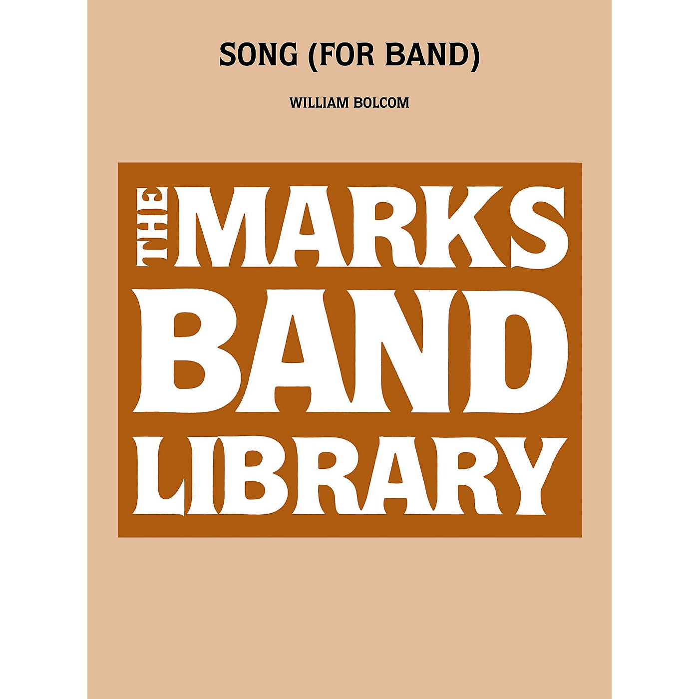 Edward B. Marks Music Company Song (for Band) Concert Band Level 5 Composed by William Bolcom thumbnail