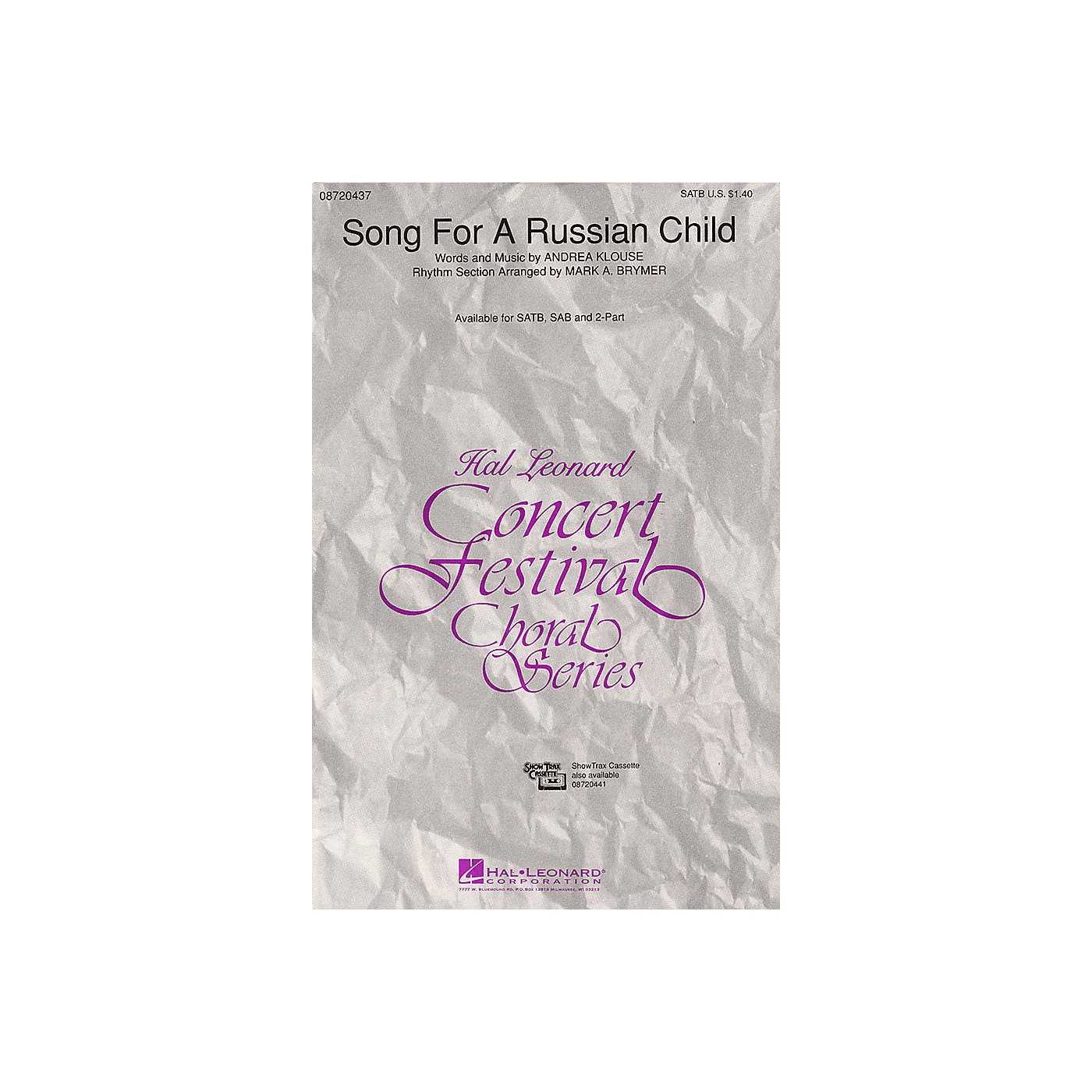 Hal Leonard Song for a Russian Child 2-Part Composed by Andrea Klouse thumbnail
