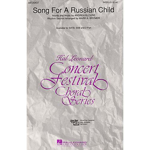 Hal Leonard Song for a Russian Child SATB composed by Andrea Klouse thumbnail