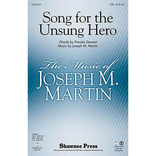 Shawnee Press Song for the Unsung Hero TTBB composed by Joseph M. Martin thumbnail
