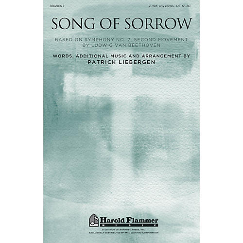 Shawnee Press Song of Sorrow 2-Part any combination composed by Patrick Liebergen thumbnail