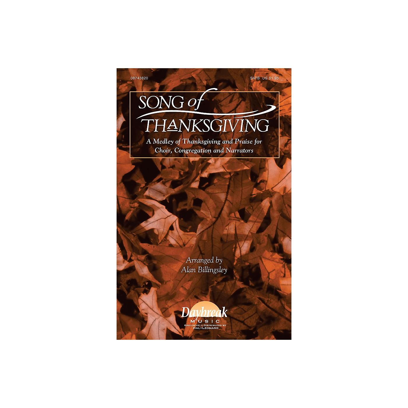 Hal Leonard Song of Thanksgiving Combo Parts Arranged by Alan Billingsley thumbnail
