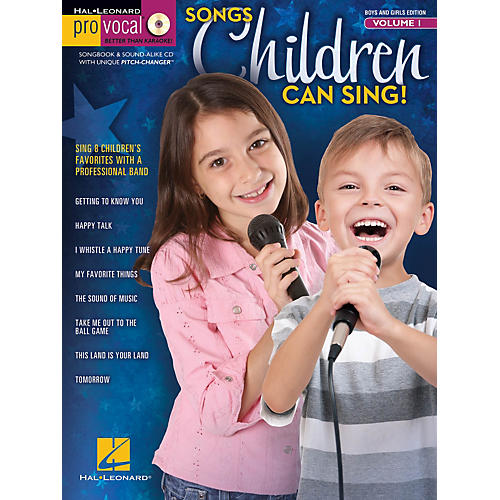 Hal Leonard Songs Children Can Sing! - Pro Vocal For Kids Vol. 1 (For Boys And Girls) Book/CD-thumbnail