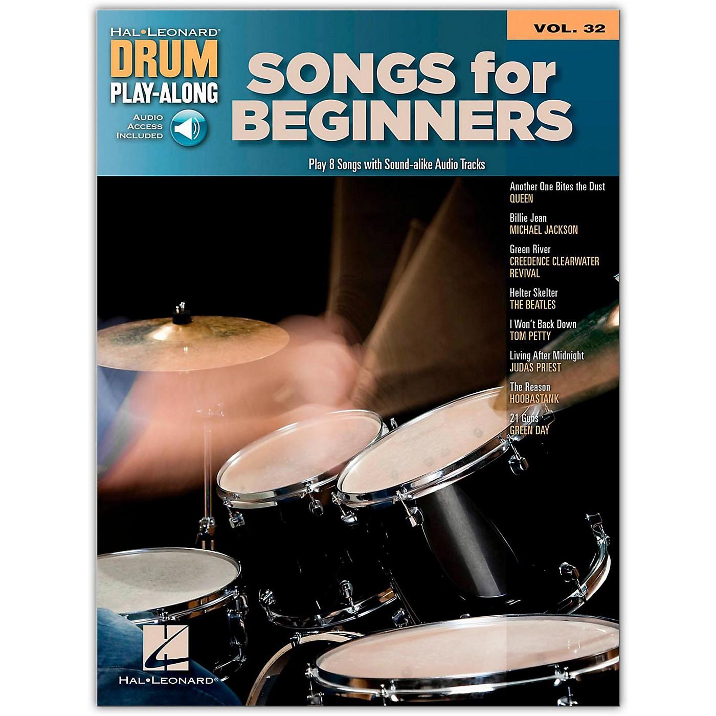 Hal Leonard Songs For Beginners - Drum Play-Along Volume 32 (Book/Online Audio) thumbnail