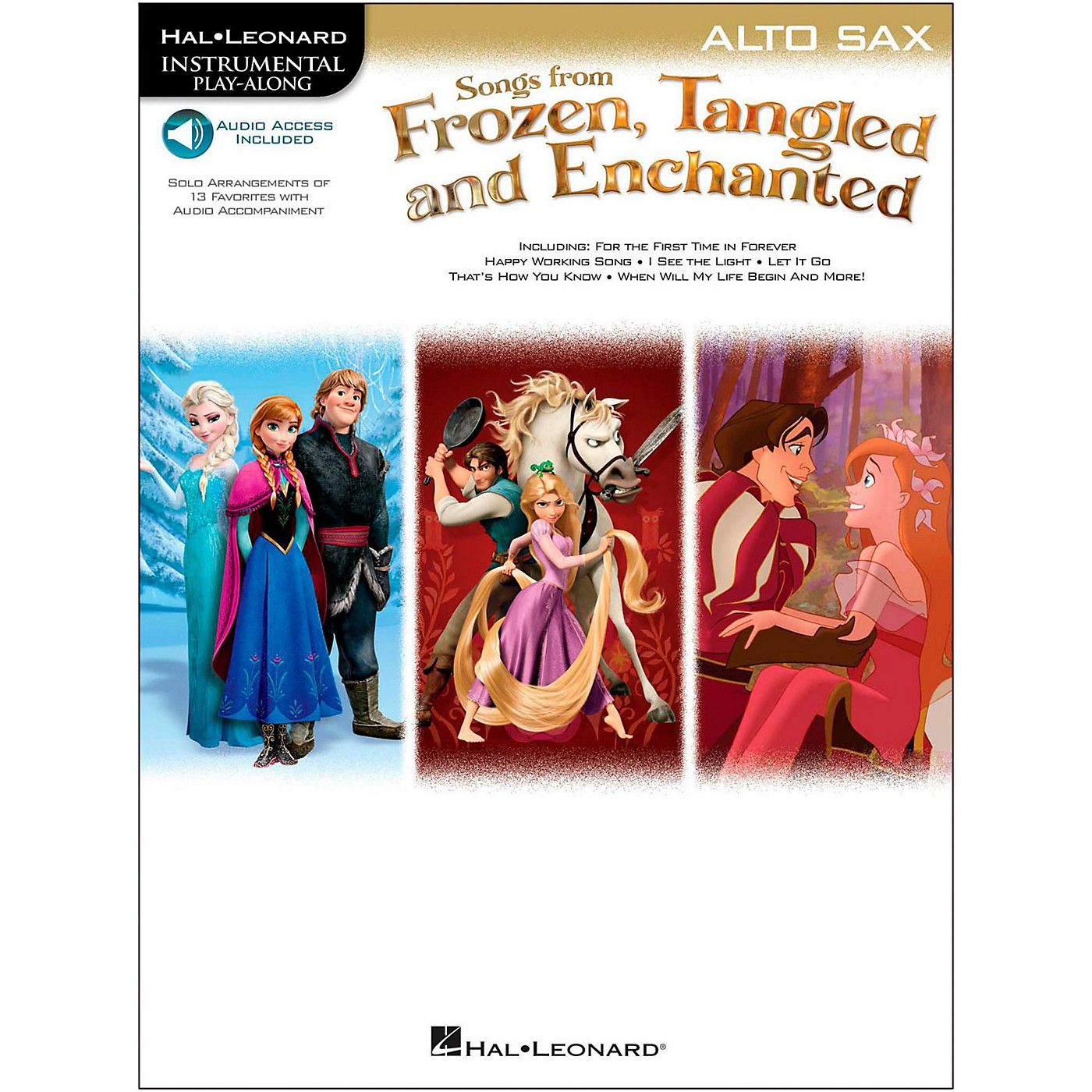 Hal Leonard Songs From Frozen, Tangled And Enchanted For Alto Sax - Instrumental Play-Along Book/Online Audio thumbnail