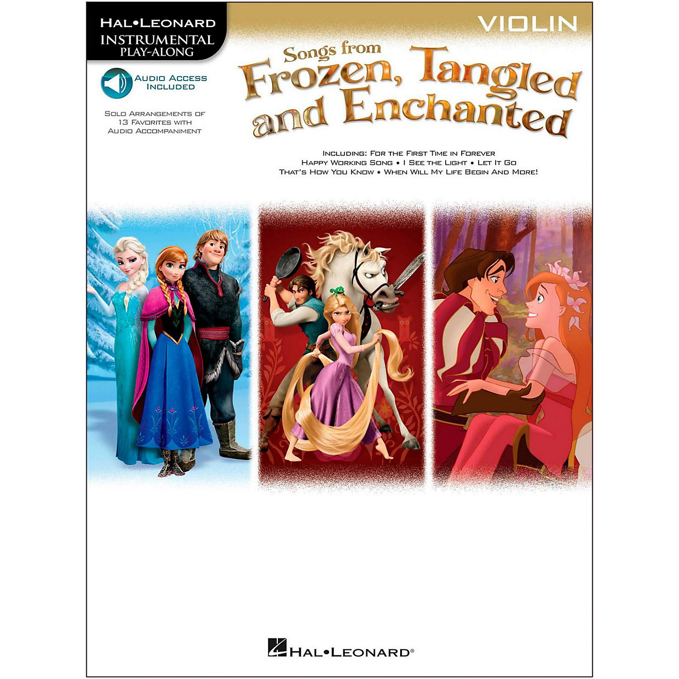 Hal Leonard Songs From Frozen, Tangled And Enchanted For Violin - Instrumental Play-Along Book/Online Audio thumbnail