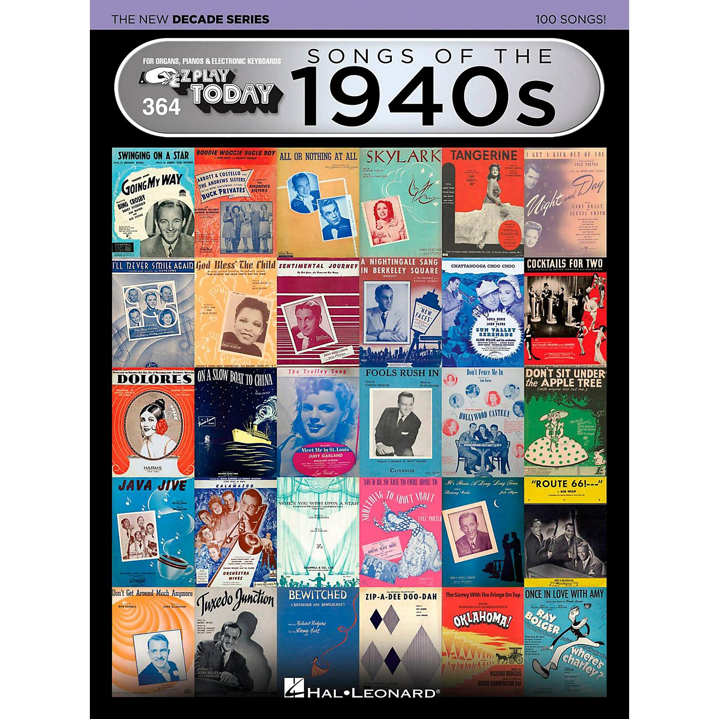 Hal Leonard Songs Of The 1940s - The New Decade Series E-Z Play Today Volume 364 thumbnail