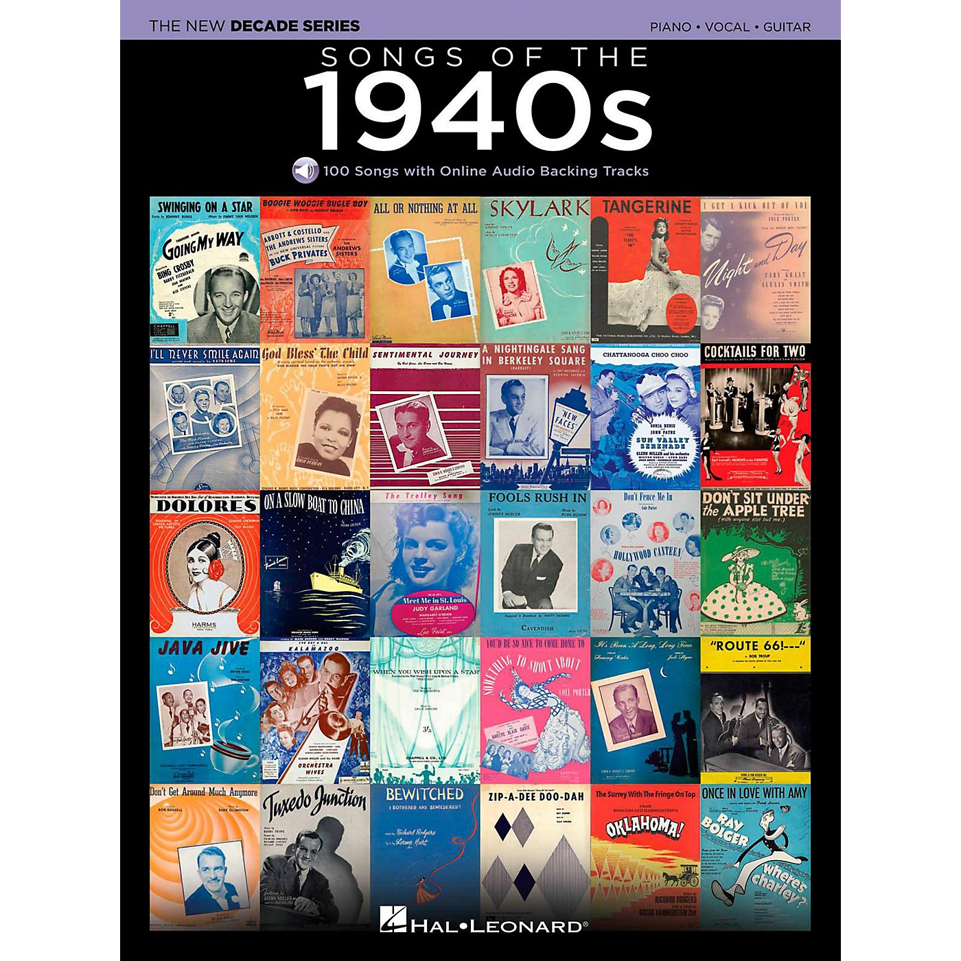 Hal Leonard Songs Of The 1940's - The New Decade Series with Optional Online Play-Along Backing Tracks thumbnail