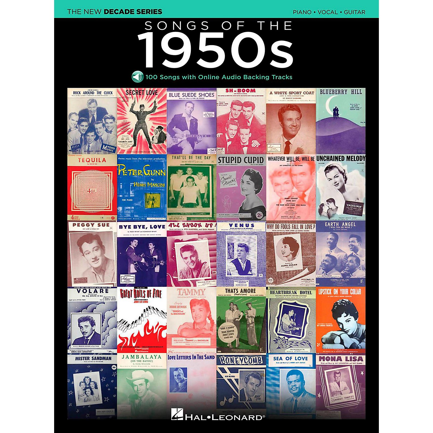 Hal Leonard Songs Of The 1950's - The New Decade Series with Optional Online Play-Along Backing Tracks thumbnail