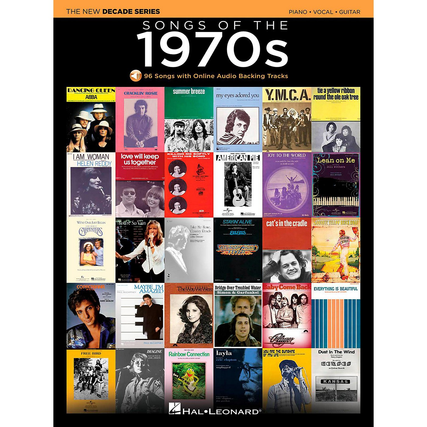 Hal Leonard Songs Of The 1970's - The New Decade Series with Optional Online Play-Along Backing Tracks thumbnail
