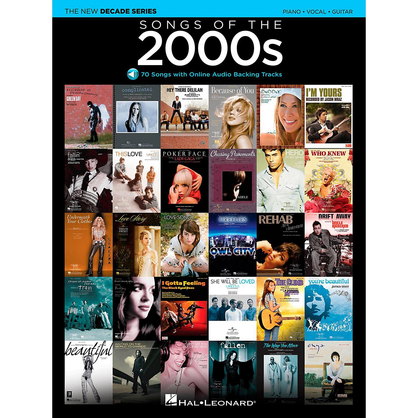 Hal Leonard Songs Of The 2000's - The New Decade Series with Optional Online Play-Along Backing Tracks thumbnail