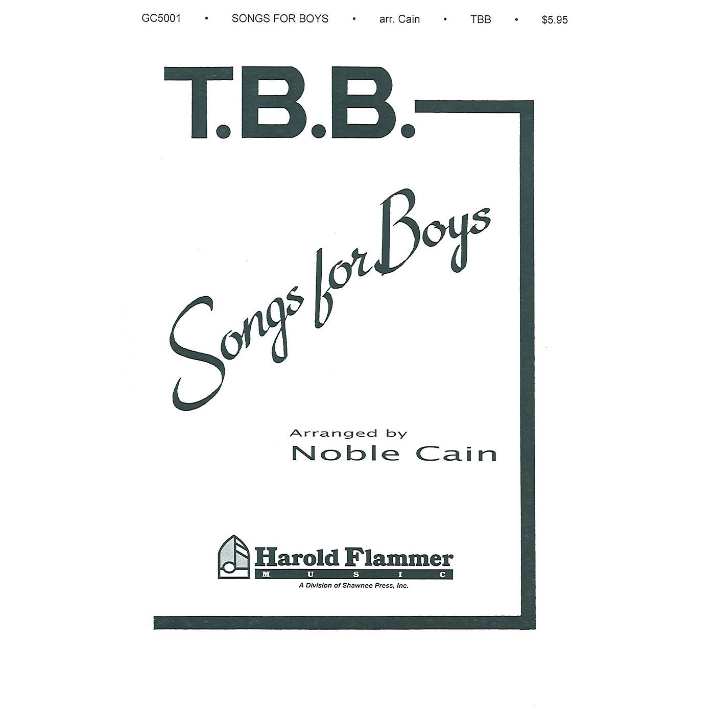 Shawnee Press Songs for Boys TTB arranged by Noble Cain thumbnail