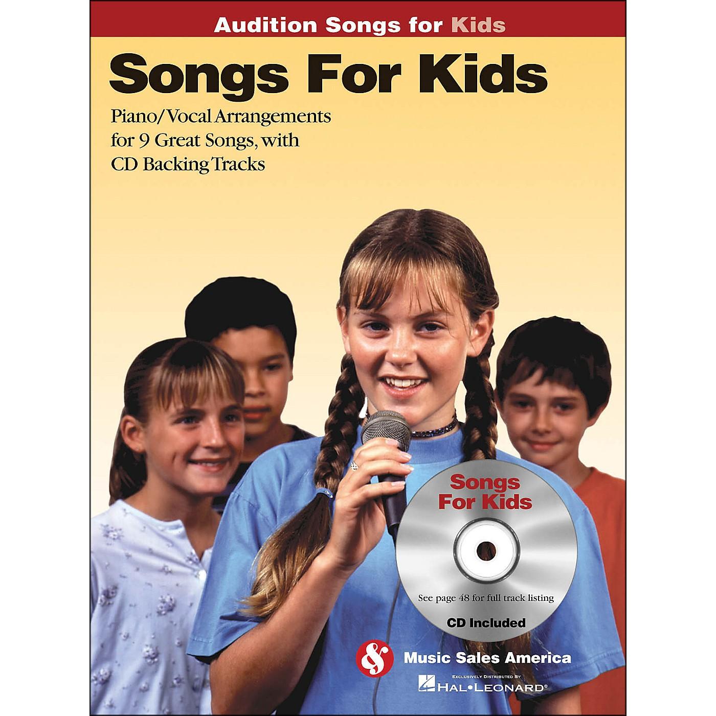 Hal Leonard Songs for Kids - Audition Songs Series Book/CD thumbnail