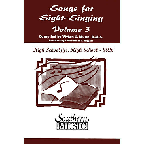 Southern Songs for Sight Singing - Volume 3 (Junior High/High School Edition SAB Book) SAB Arranged by Mary Henry thumbnail