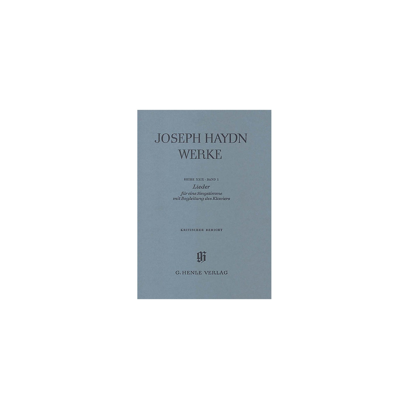 G. Henle Verlag Songs for one voice with accompaniment of a Piano Henle Edition Series Softcover thumbnail