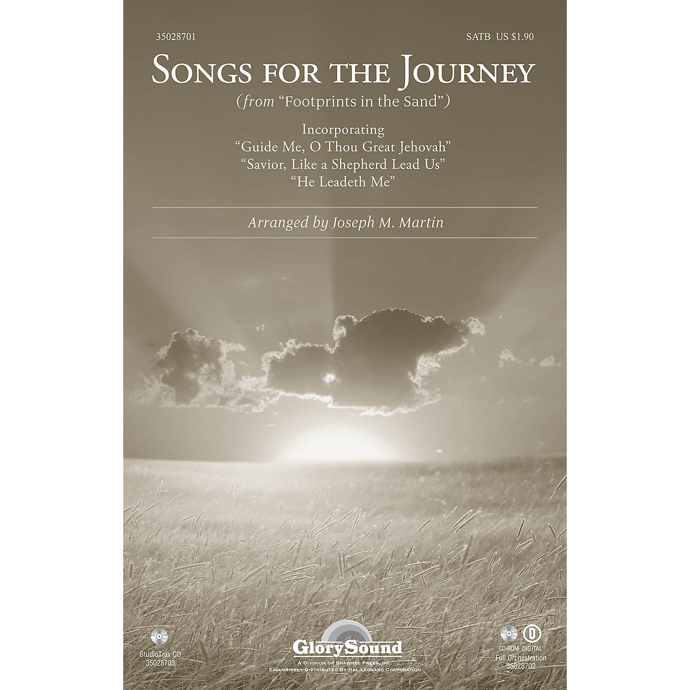Shawnee Press Songs for the Journey (from Footprints in the Sand) Studiotrax CD Arranged by Joseph M. Martin thumbnail