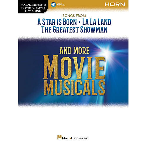 Hal Leonard Songs from A Star Is Born, La La Land and The Greatest Showman Instrumental Play-Along for Horn Book/Audio Online thumbnail