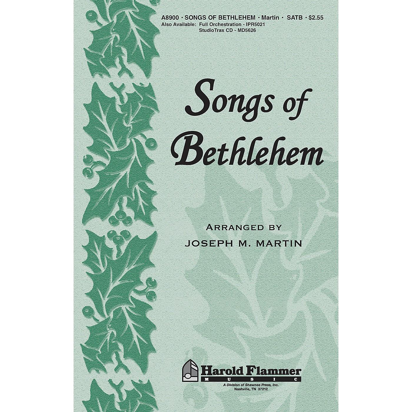 Shawnee Press Songs of Bethlehem (from Journey of Promises) ORCHESTRATION ON CD-ROM Arranged by Joseph M. Martin thumbnail