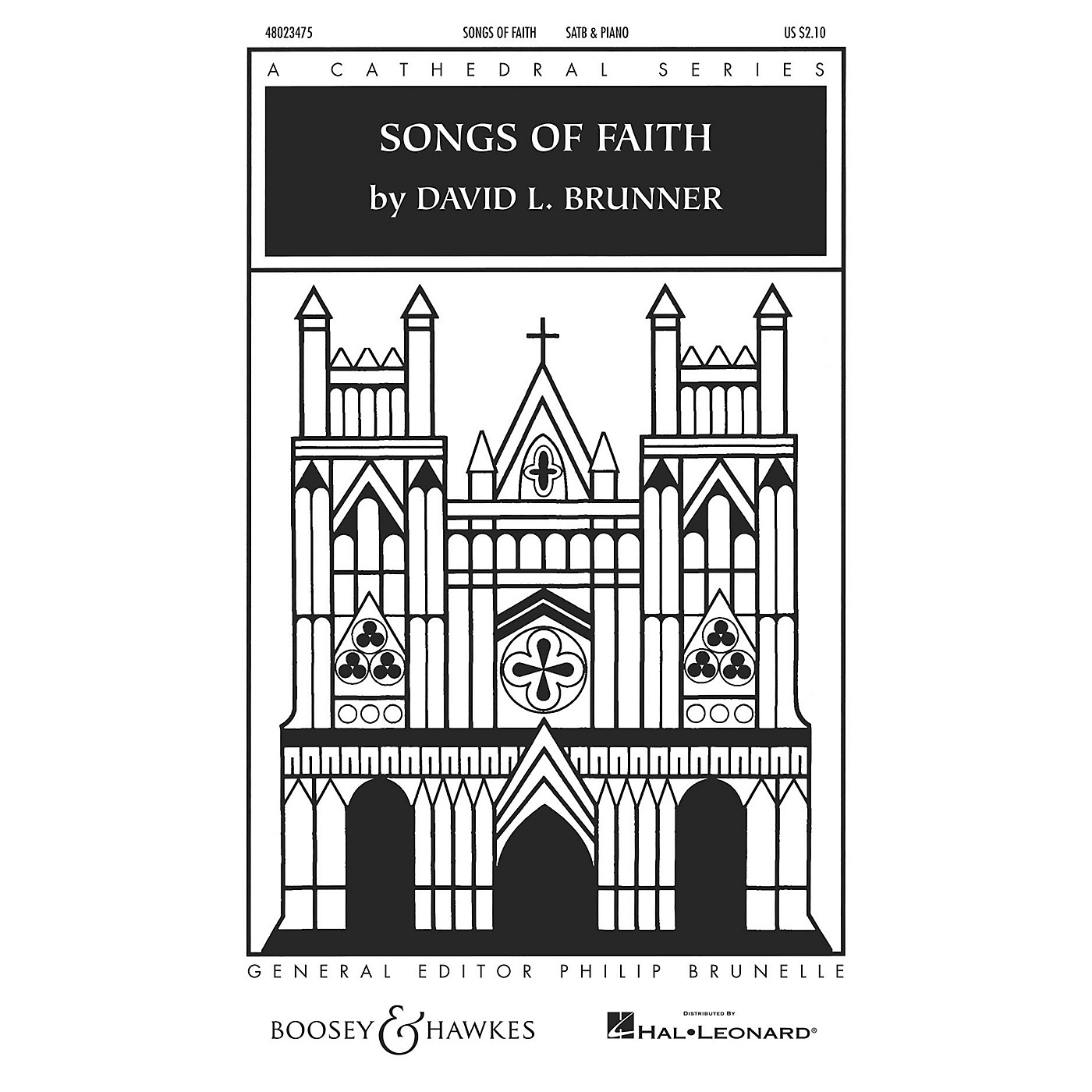 Boosey and Hawkes Songs of Faith (Cathedral Series) SATB composed by David Brunner thumbnail