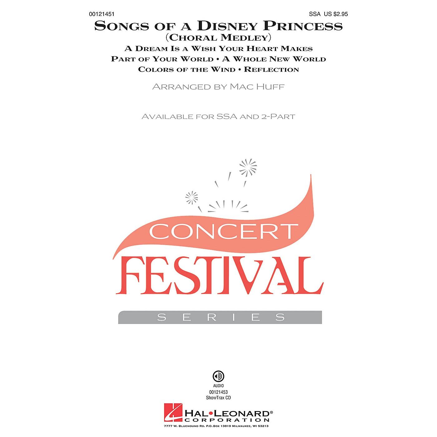 Hal Leonard Songs of a Disney Princess (Choral Medley) 2-Part Arranged by Mac Huff thumbnail