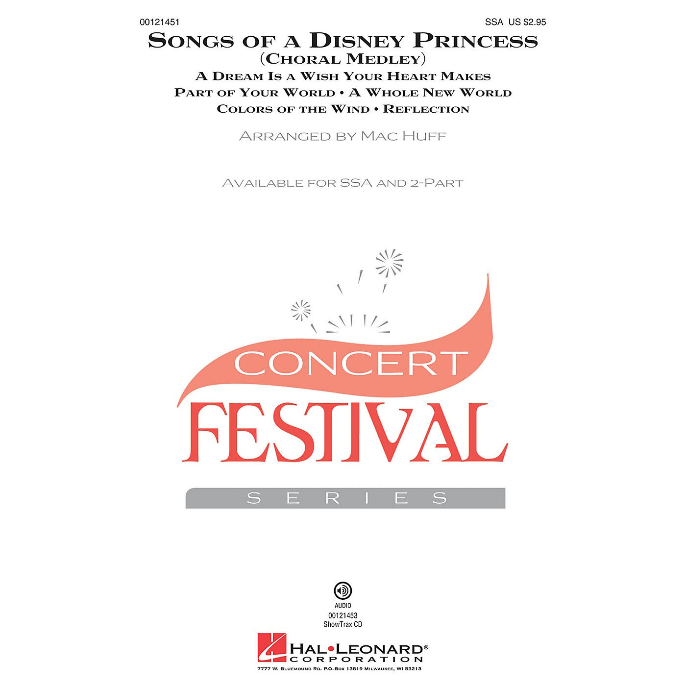 Hal Leonard Songs of a Disney Princess (Choral Medley) ShowTrax CD Arranged by Mac Huff thumbnail
