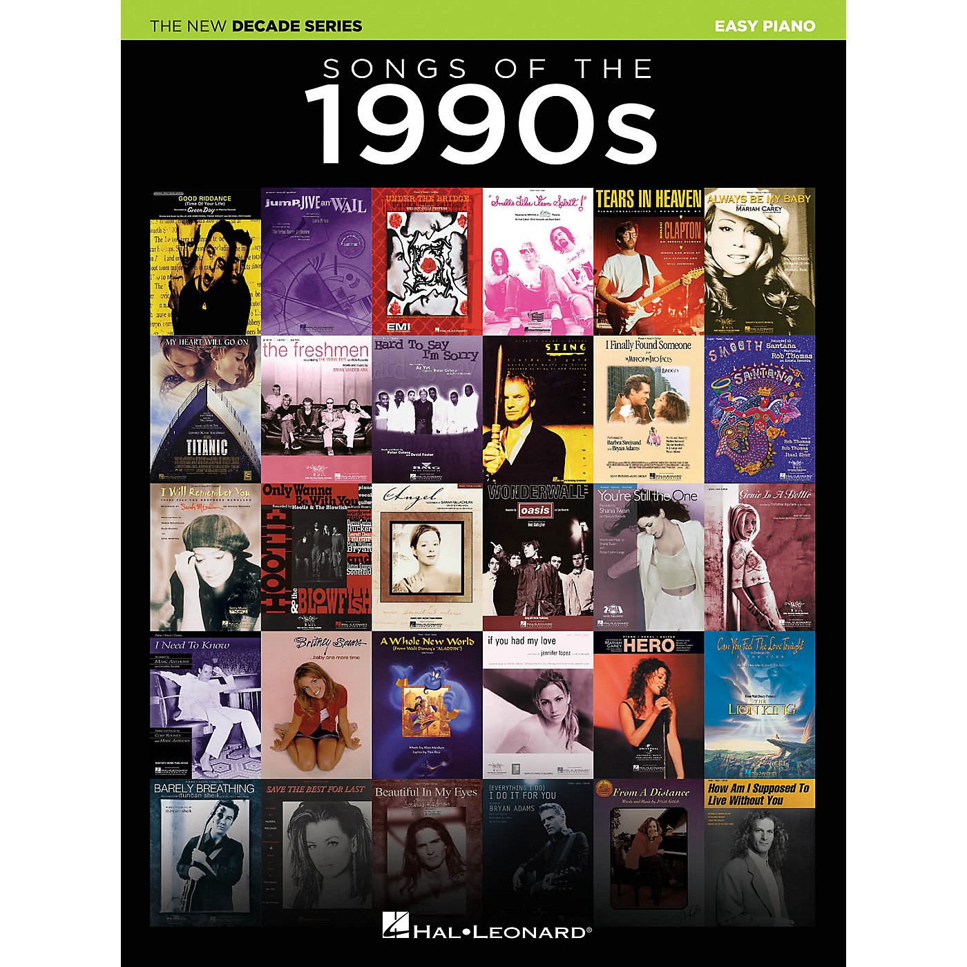 Hal Leonard Songs of the 1990s (The New Decade Series) Easy Piano Songbook thumbnail