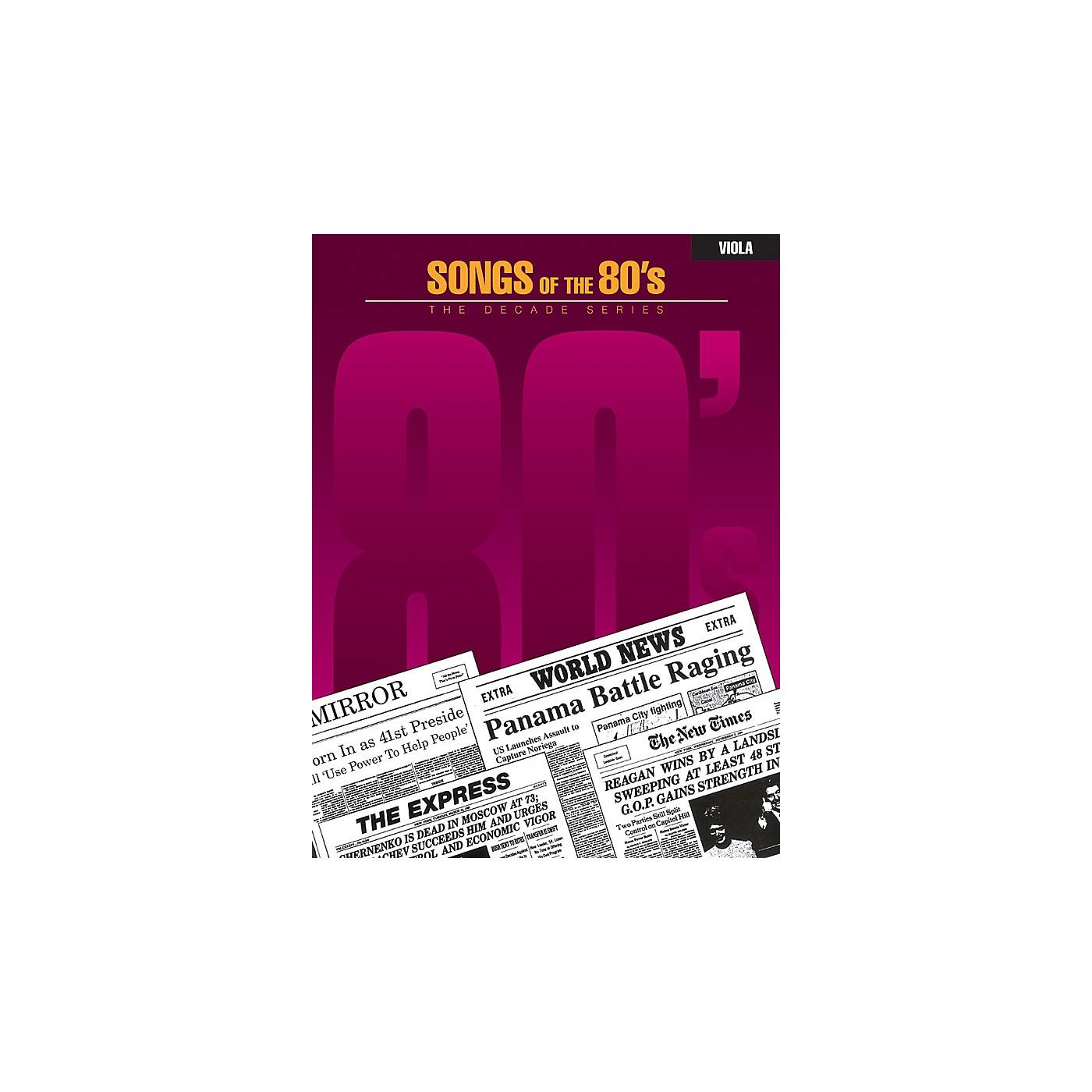 Hal Leonard Songs of the '80s (Viola) Instrumental Folio Series thumbnail