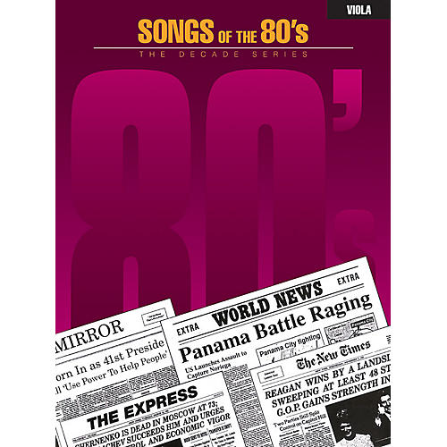 Hal Leonard Songs of the '80s (Viola) Instrumental Folio Series thumbnail