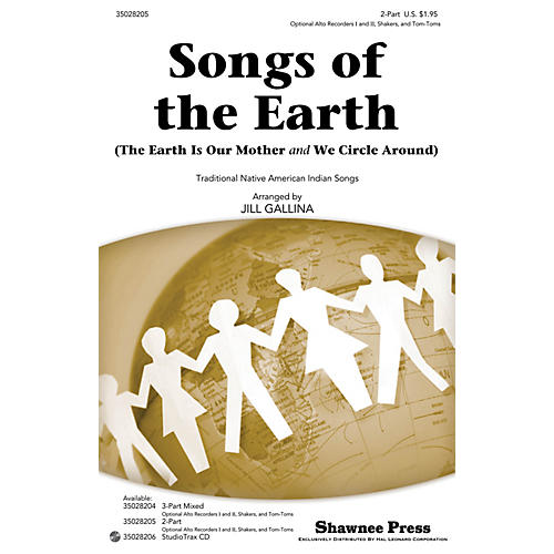 Shawnee Press Songs of the Earth 2-PART arranged by Jill Gallina thumbnail