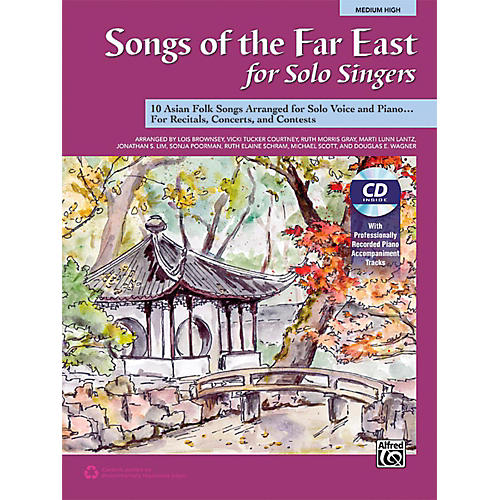 Alfred Songs of the Far East for Solo Singers Book & Acc. CD Medium High thumbnail