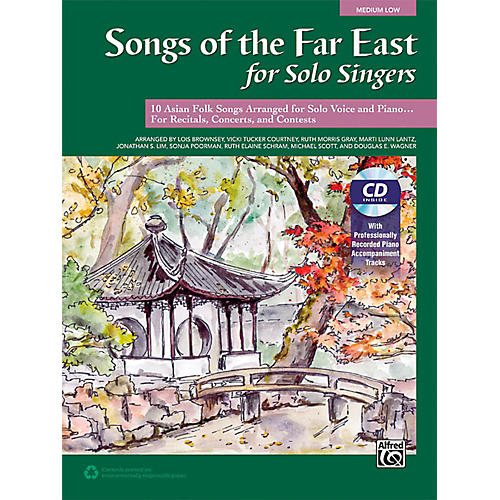 Alfred Songs of the Far East for Solo Singers Book & Acc. CD Medium Low thumbnail