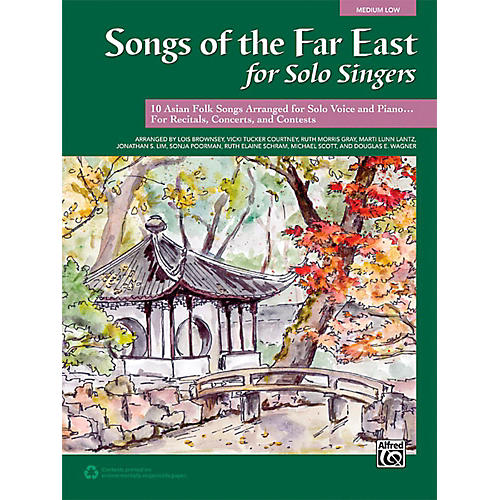 Alfred Songs of the Far East for Solo Singers Book Medium Low thumbnail