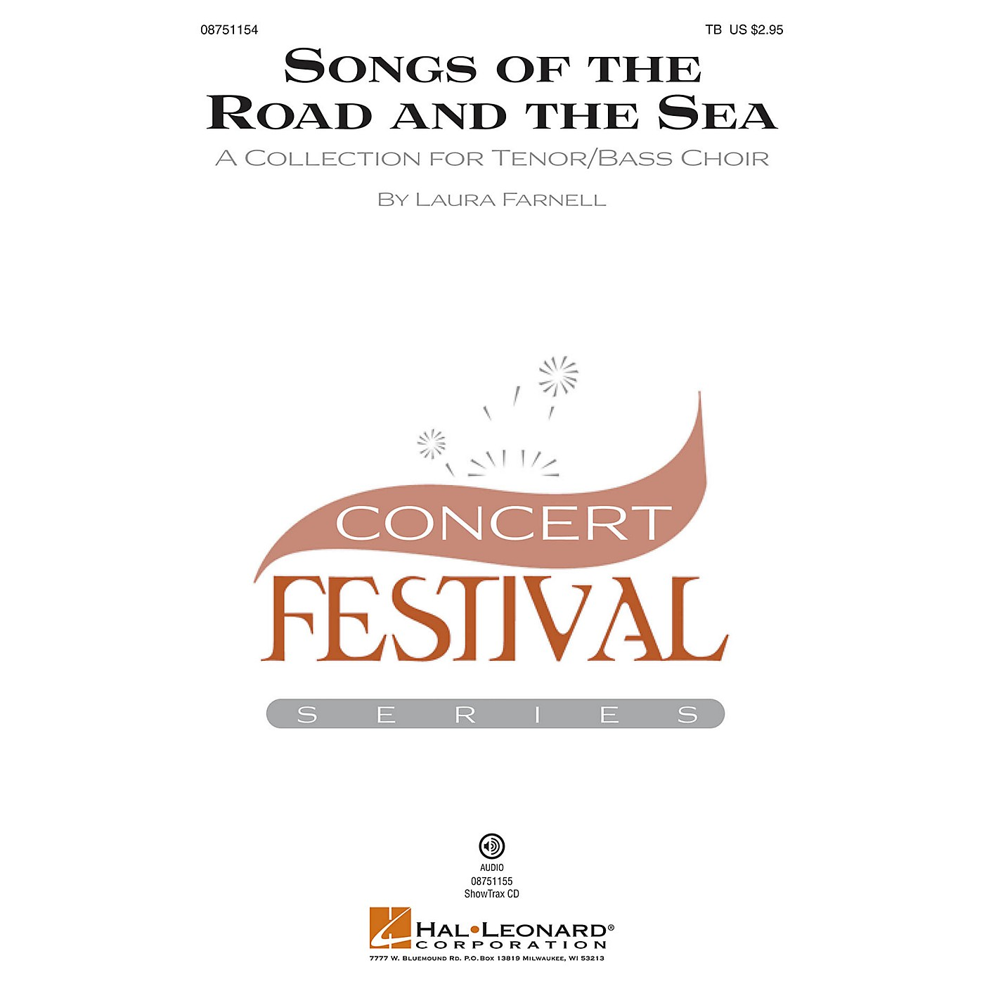 Hal Leonard Songs of the Road and the Sea (A Collection for Tenor Bass Choir) TB composed by Laura Farnell thumbnail