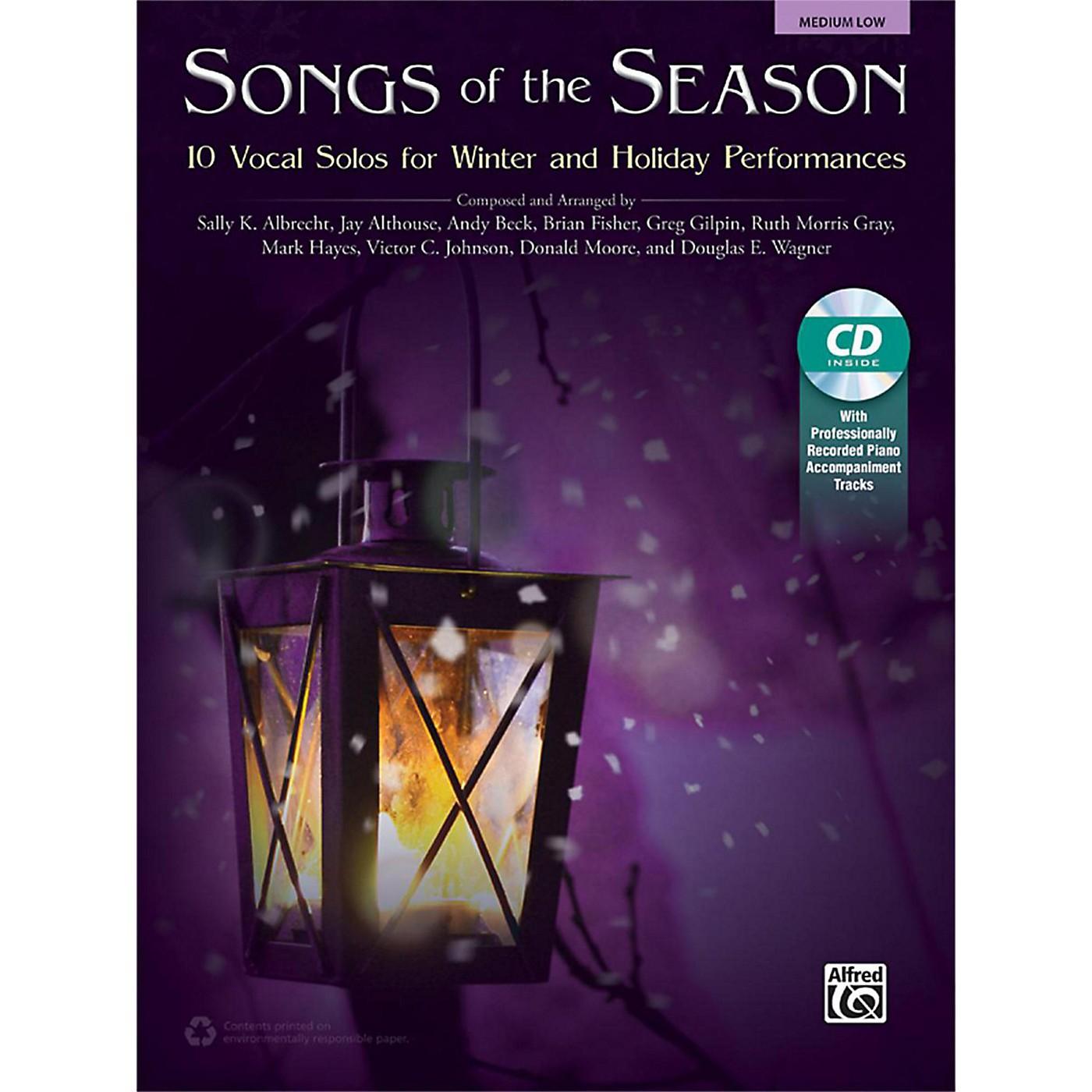 Alfred Songs of the Season Medium Low Book & Acc. CD thumbnail