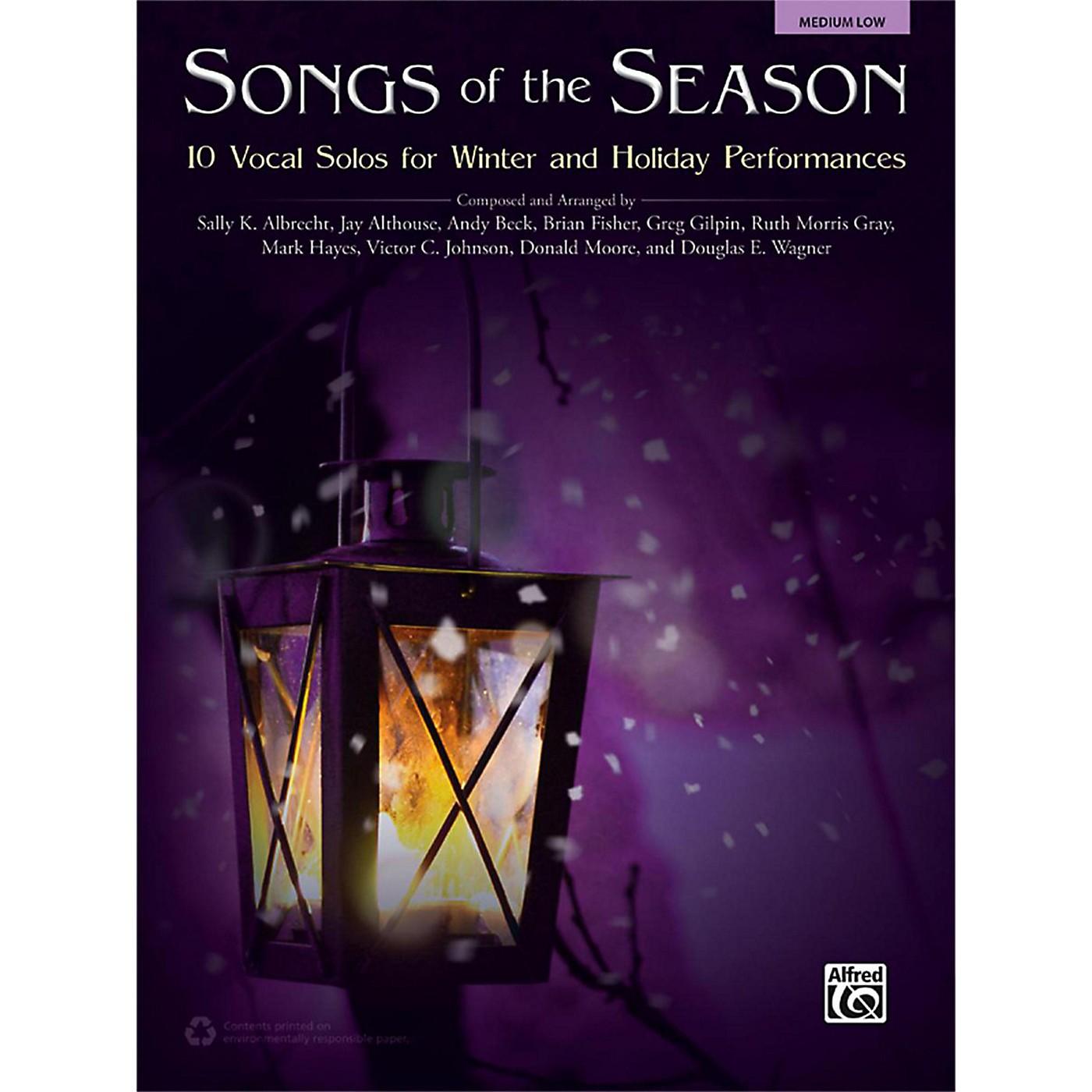 Alfred Songs of the Season Medium Low Book thumbnail