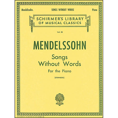 G. Schirmer Songs without Words for Piano By Mendelssohn thumbnail