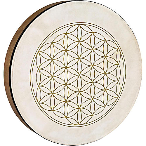 Meinl Sonic Energy HD16WB-FOL 16-Inch Hand Drum, Walnut Brown with Flower of Life Symbol thumbnail
