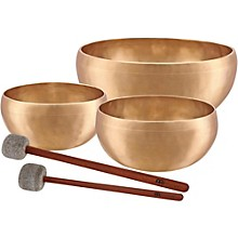 Meinl Sonic Energy SB-E-4600 Energy Series 3-Piece Therapy Singing Bowl Set with Free Mallets
