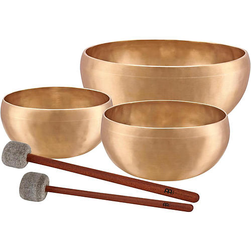 Meinl Sonic Energy SB-E-4600 Energy Series 3-Piece Therapy Singing Bowl Set with Free Mallets thumbnail