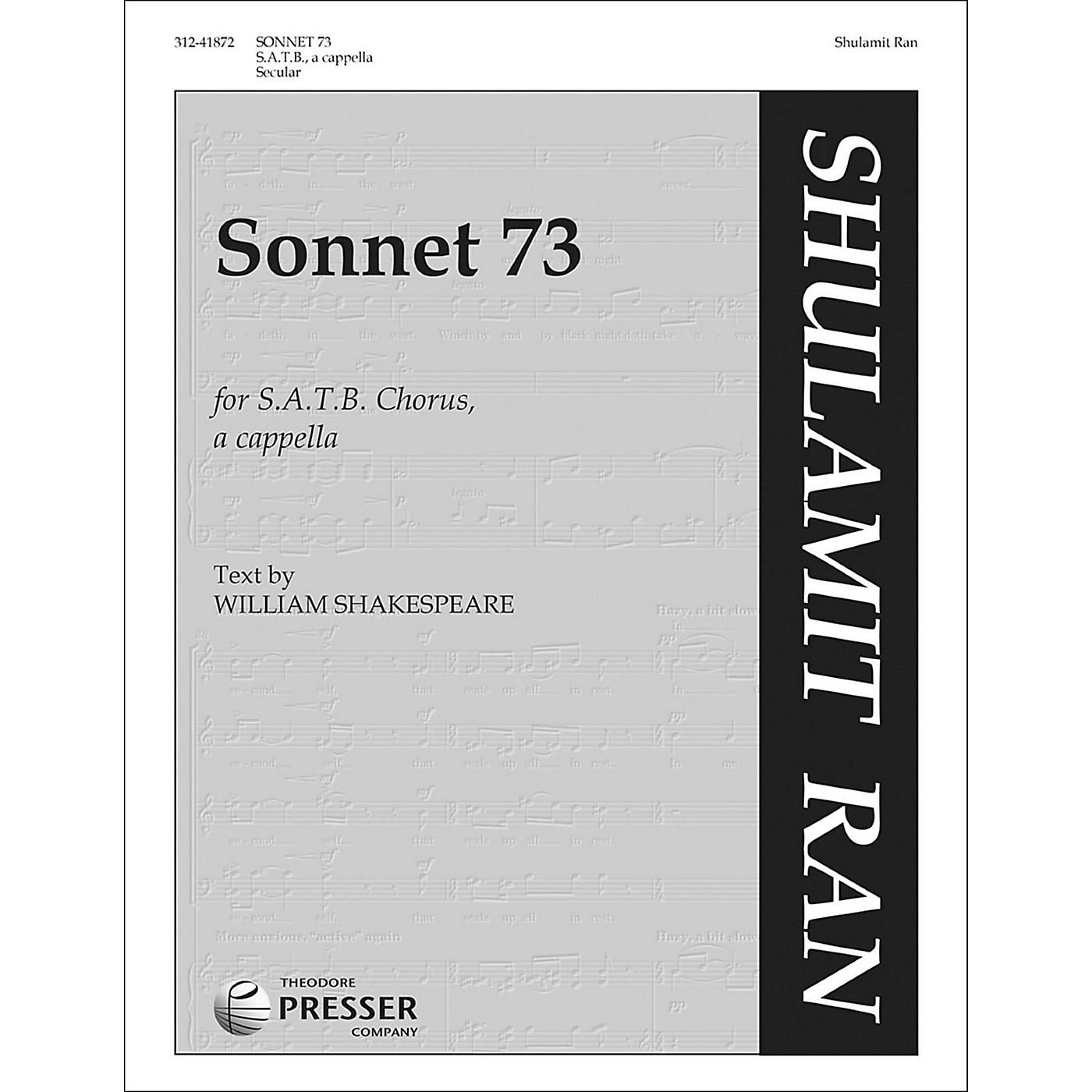 Carl Fischer Sonnet 73 for SATB Chorus A Cappella thumbnail