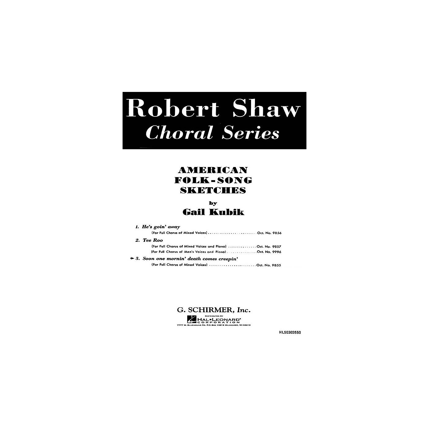 G. Schirmer Soon One Mornin' Death Comes Creepin' American Folk Songa Cappella Baritone Solo SATB composed by G Kubik thumbnail