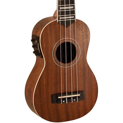 Lanikai Soprano All-Mahogany Acoustic-Electric Ukulele with USB thumbnail