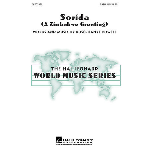 Hal Leonard Sorida (A Zimbabwe Greeting) SATB composed by Rosephanye Powell thumbnail