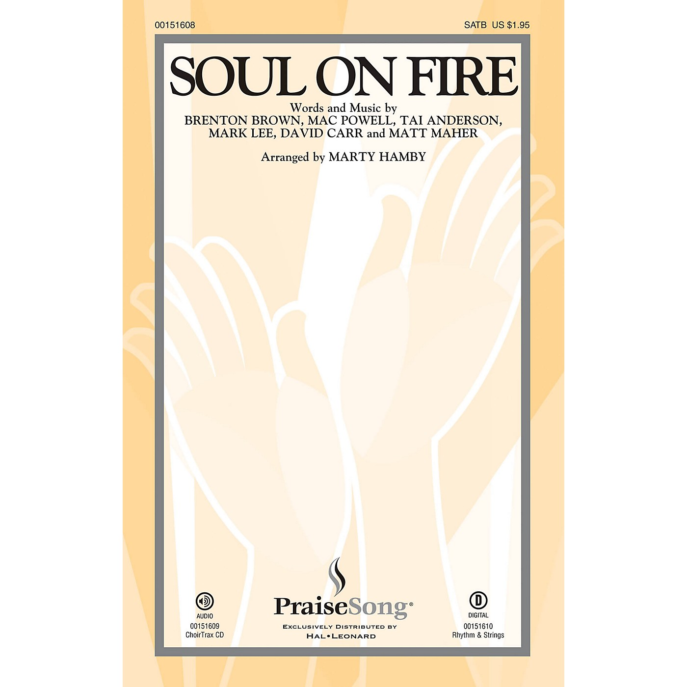 PraiseSong Soul on Fire SATB by Third Day arranged by Marty Hamby thumbnail