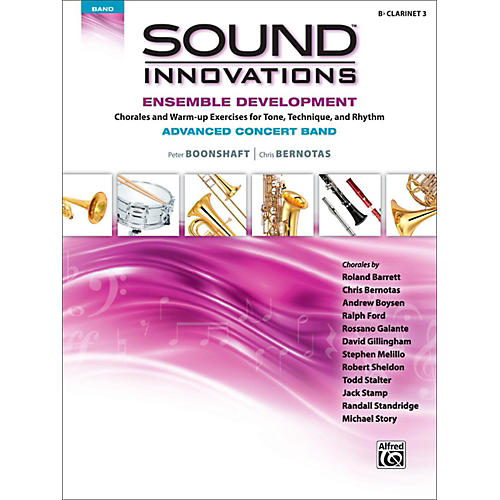 Alfred Sound Innovations Concert Band Ensemble Development Advanced Clarinet 3 thumbnail