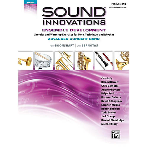 Alfred Sound Innovations Concert Band Ensemble Development Advanced Percussion 2 thumbnail