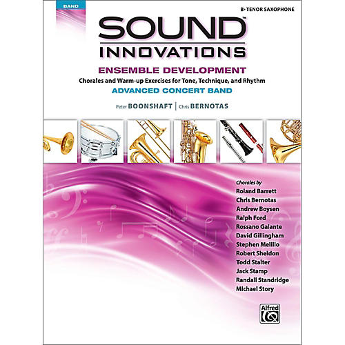Alfred Sound Innovations Concert Band Ensemble Development Advanced Tenor Saxophone thumbnail